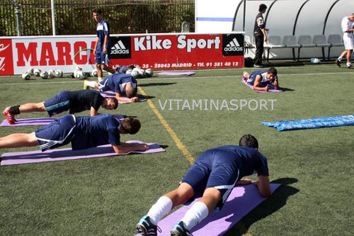 Галерия към: Пилатес и  упражнения за координация за подрастващи футболисти във филиала на Реал Мадрид, Канияс